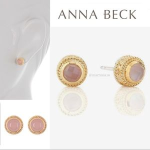 ANNA BECK  GUAVA STUD EARRINGS - GOLD